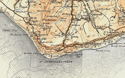 Old map of Niton in 1899