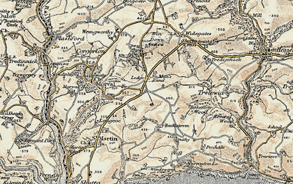 Old map of No Man's Land in 1900