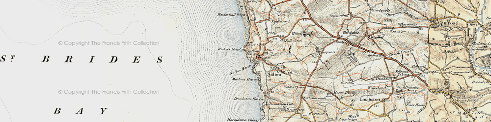 Old map of Nolton Haven in 0-1912