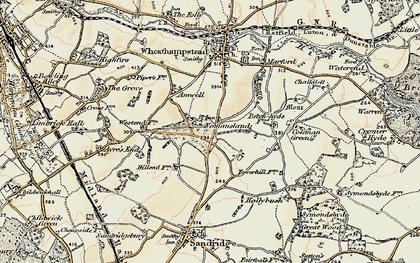 Old map of Nomansland in 1898