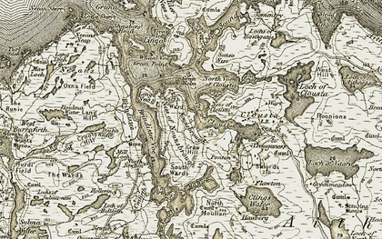 Old map of Whaal Voe in 1911-1912