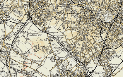 Old map of Norbury in 1897-1902
