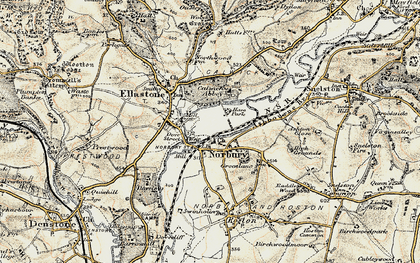 Old map of Norbury in 1902