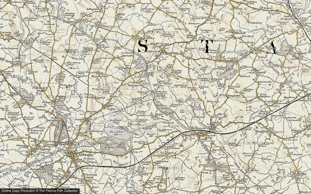 Old Map of Norbury Junction, 1902 in 1902