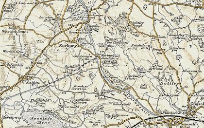 Old map of Norbury Junction in 1902