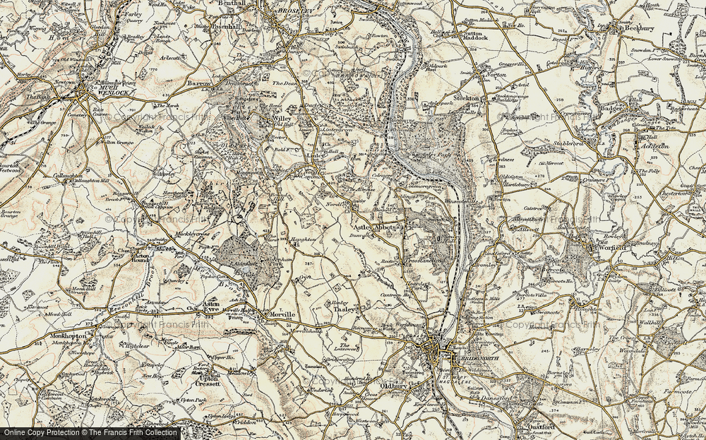 Old Map of Historic Map covering Albynes, The in 1902