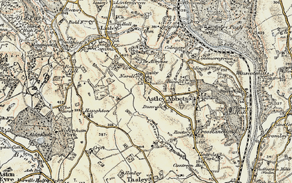 Old map of Albynes, The in 1902