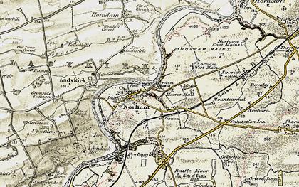 Old map of West Newbiggin in 1901-1903