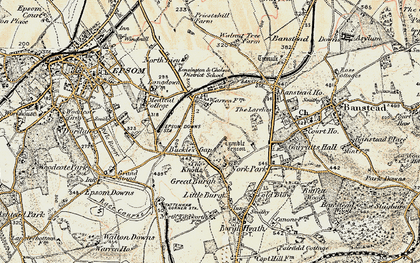 Old map of Nork in 1897-1909