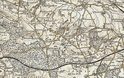 Old map of Norley in 1902-1903