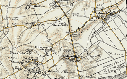 Old map of Norman Cross in 1901
