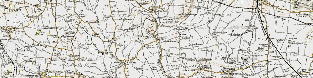 Old map of Riseborough Hall in 1903-1904
