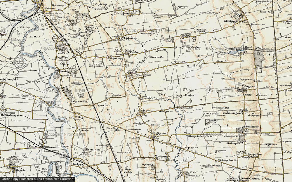 Old Map of Normanby by Stow, 1902-1903 in 1902-1903