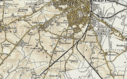 Old map of Normanton in 1902-1903