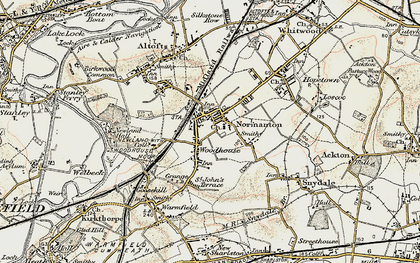 Old map of Normanton in 1903