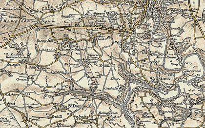 Old map of Norris Green in 1899-1900
