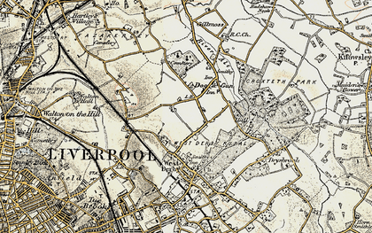 Old map of Norris Green in 1902-1903