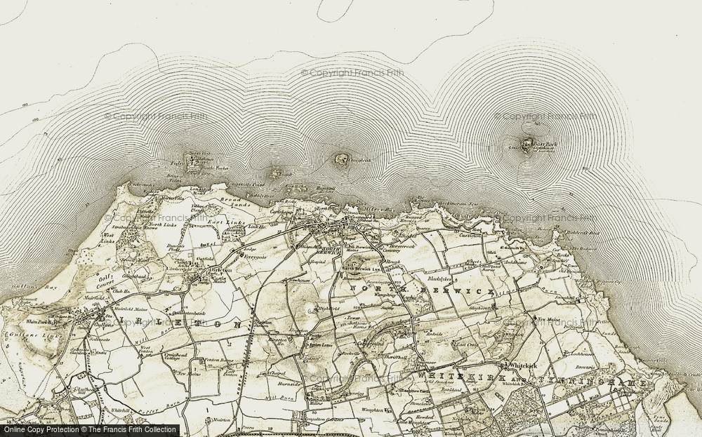 Old Map of Historic Map covering Leithies, The in 1901-1906
