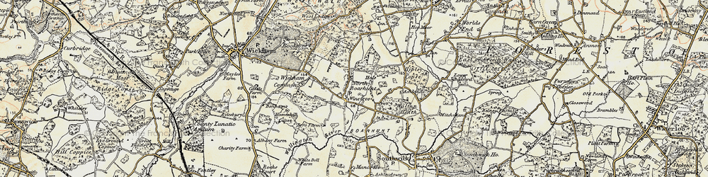 Old map of North Boarhunt in 1897-1899