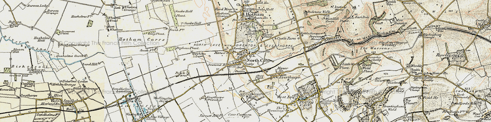 Old map of North Cave in 1903