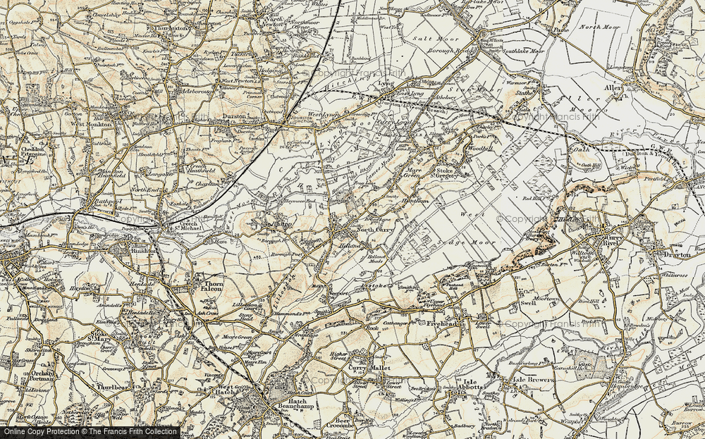 Old Map of North Curry, 1898-1900 in 1898-1900