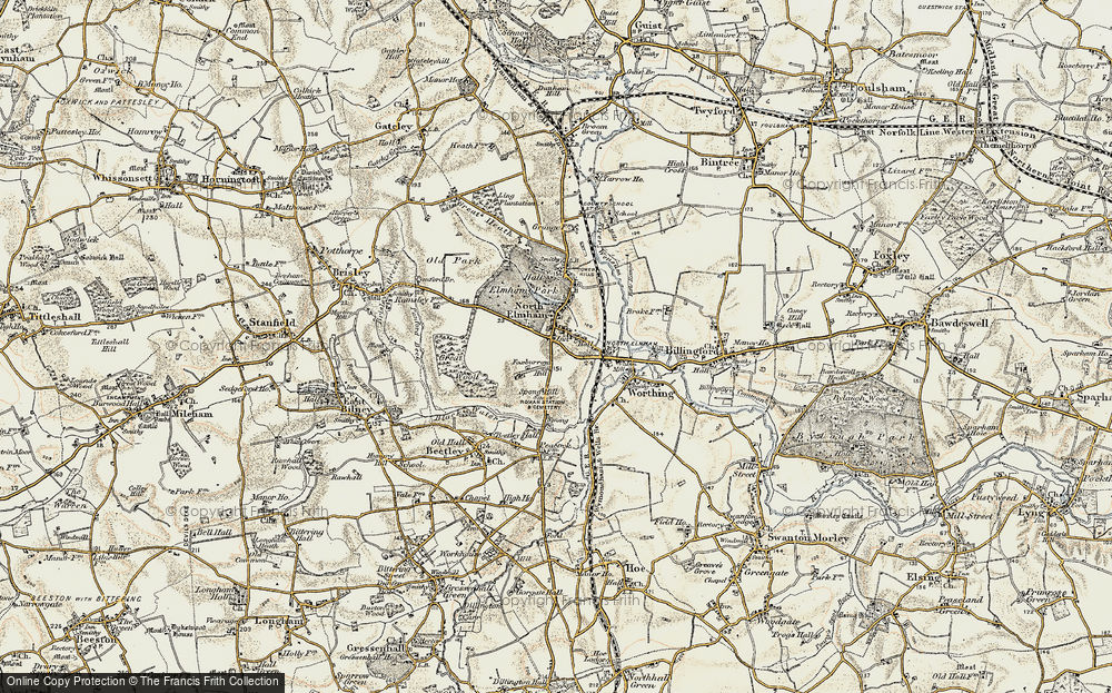 Old Map of North Elmham, 1901-1902 in 1901-1902