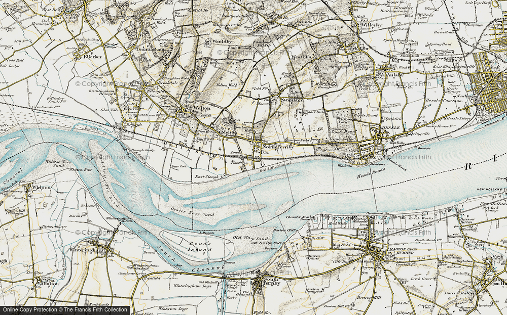 Old Map of North Ferriby, 1903-1908 in 1903-1908