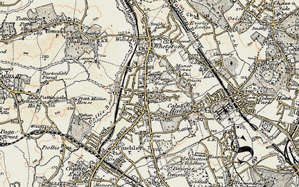 Old map of North Finchley in 1897-1898