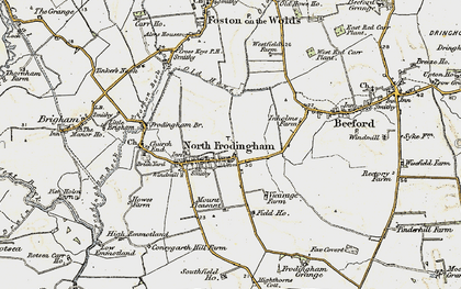 Old map of North Frodingham in 1903