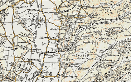 Old map of North Gorley in 1897-1909