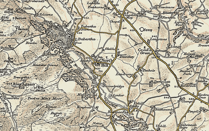 Old map of North Hill in 1900