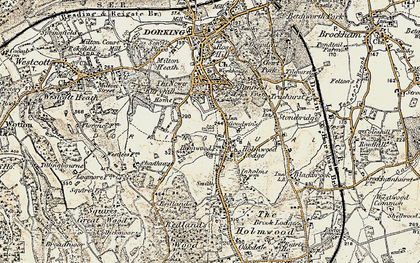 Old map of North Holmwood in 1898-1909