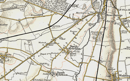 Old map of North Hykeham in 1902-1903