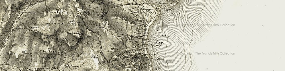 Old map of Allt Dhepin in 1905-1906