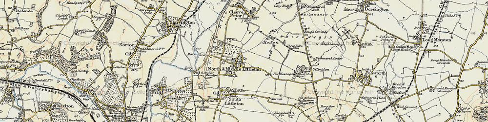 Old map of North Littleton in 1899-1901