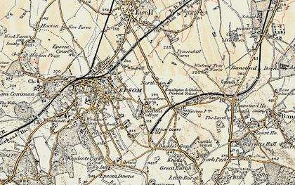 Old map of Drift Bridge in 1897-1909