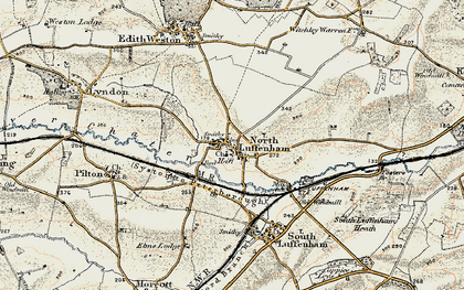 Old map of North Luffenham in 1901-1903