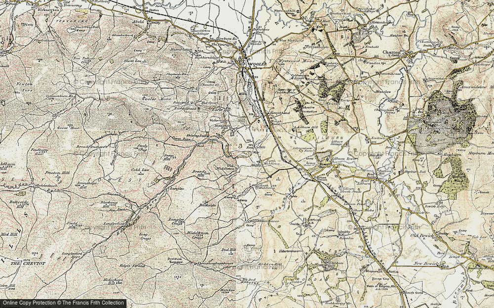 Old Map of North Middleton, 1901-1903 in 1901-1903