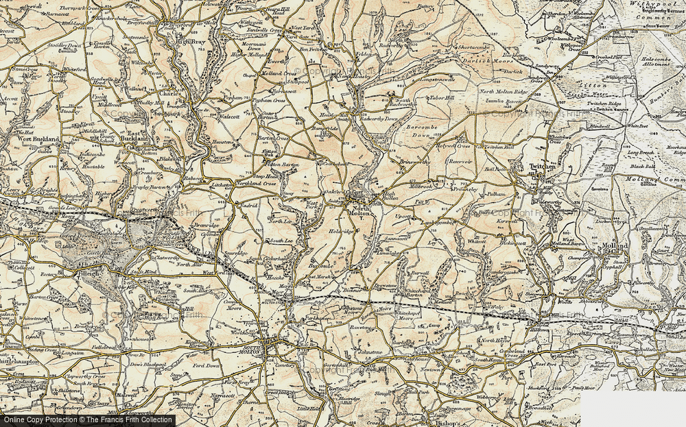 Old Map of North Molton, 1900 in 1900