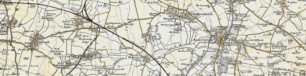 Old map of North Moreton in 1897-1898