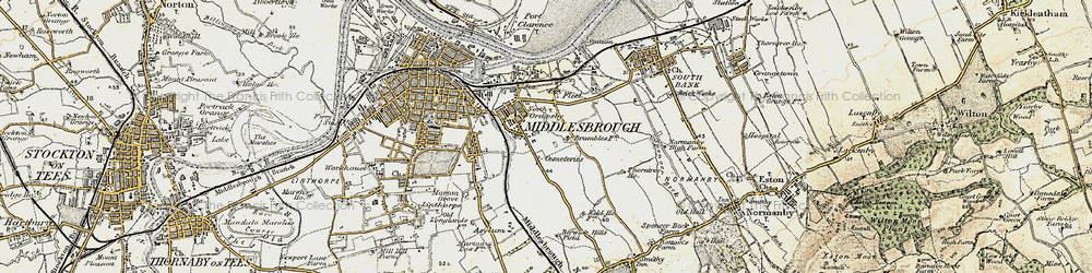 Old map of North Ormesby in 1903-1904
