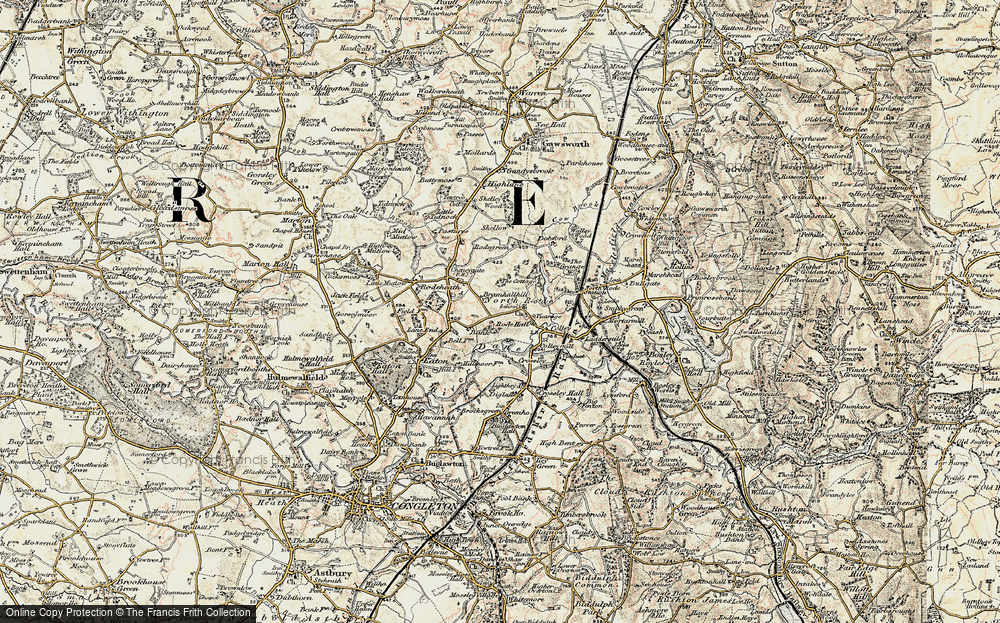 Old Map of Historic Map covering Lighthey in 1902-1903