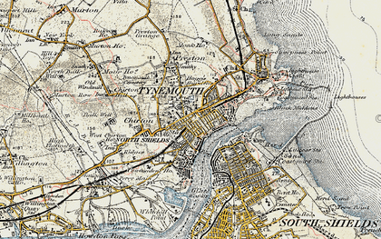 Old map of North Shields in 1901-1903