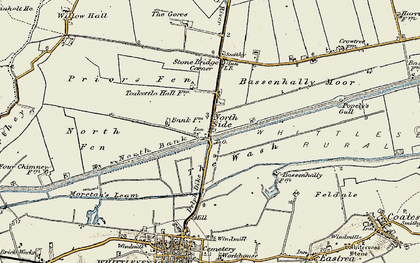 Old map of North Side in 1901-1902