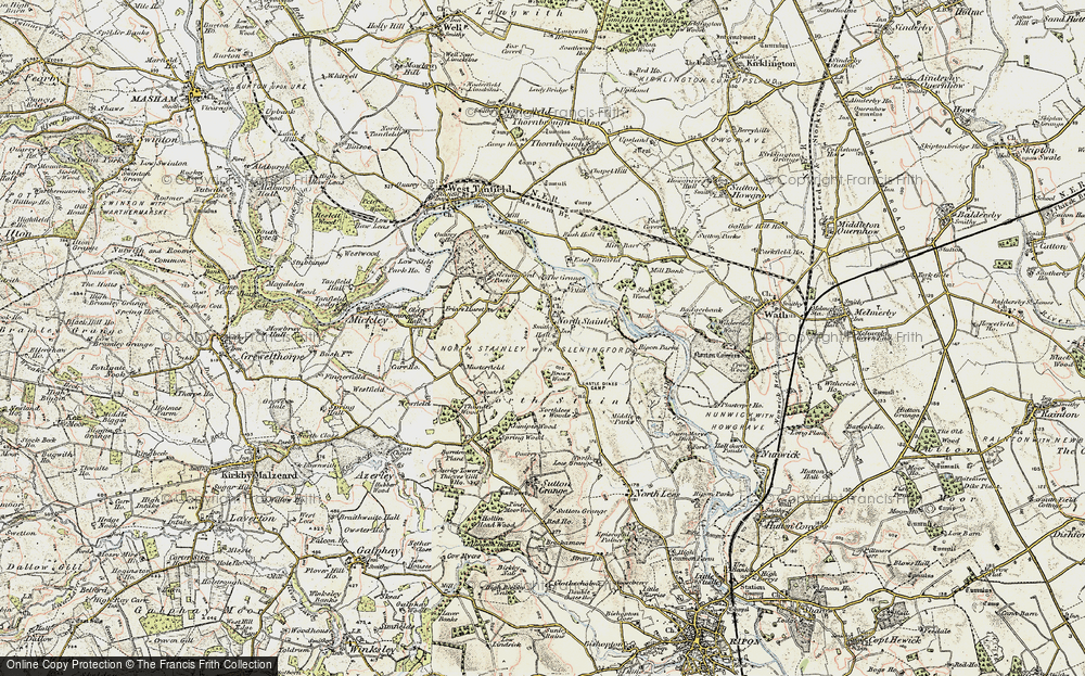 Old Map of Historic Map covering Lightwater Valley in 1903-1904