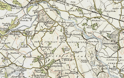 Old map of Lightwater Valley in 1903-1904