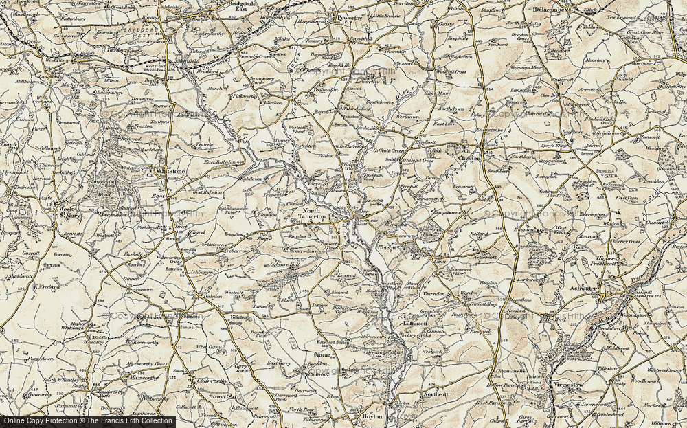 Old Map of Historic Map covering Allisdon in 1900