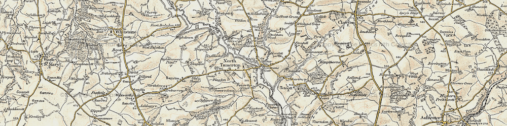 Old map of Tinney in 1900