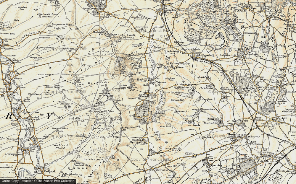 Old Map of Historic Map covering Tidworth Ho in 1897-1899