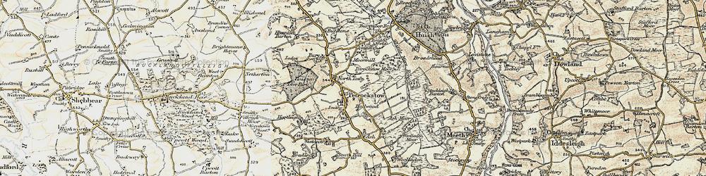 Old map of Westacott in 1899-1900
